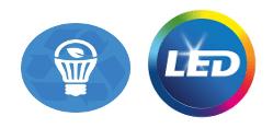 Iconos de iluminación LED y ahorro energético
