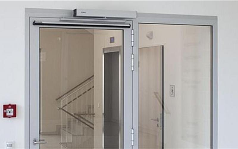 Motor para puertas automáticas de cristal