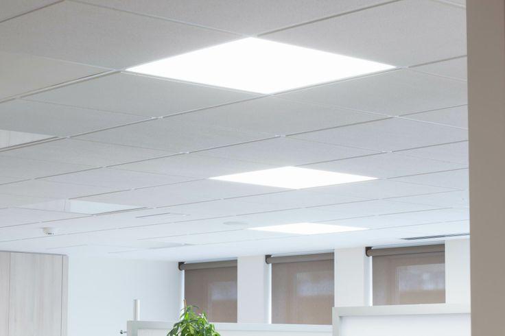 Techo con iluminación de paneles LED