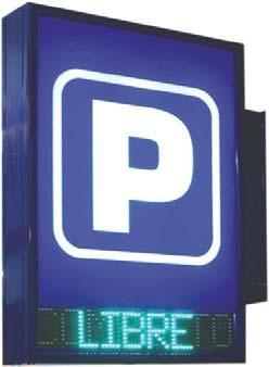 Cartel luminoso para señalización de parkings y accesos