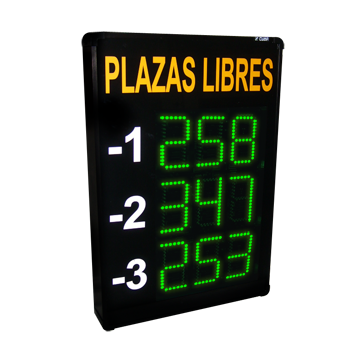 Cartel de plazas libres para control de parkings