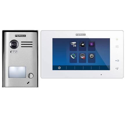 Videoportero con pantalla LCD y cámara integrada